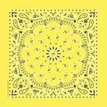 "Hav - A - Hank Paisley Bandannas 22""X22""-Yellow"
