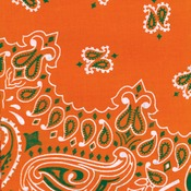 "Hav - A - Hank Paisley Bandannas 22""X22""-Orange"