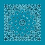 "Hav - A - Hank Paisley Bandannas 22""X22""-Turquoise"