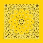 "Hav - A - Hank Paisley Bandannas 22""X22""-Lemon"