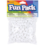 White - Fun Pack Acrylic Pony Beads 250/Pkg