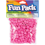 Pink - Fun Pack Acrylic Pony Beads 250/Pkg