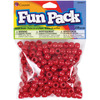 Red - Fun Pack Acrylic Pony Beads 250/Pkg