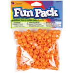Orange - Fun Pack Acrylic Pony Beads 250/Pkg