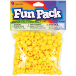 Yellow - Fun Pack Acrylic Pony Beads 250/Pkg