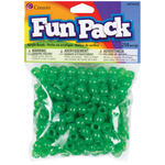 Green - Fun Pack Acrylic Pony Beads 250/Pkg
