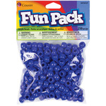 Blue - Fun Pack Acrylic Pony Beads 250/Pkg