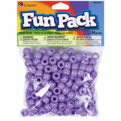 Purple - Fun Pack Acrylic Pony Beads 250/Pkg