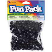 Black - Fun Pack Acrylic Pony Beads 250/Pkg