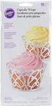 Pearl White Swirls 18/Pkg - Standard Cupcake Wraps