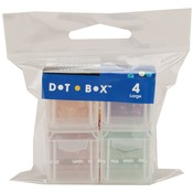 "Large 1.25""X1.25""X1.25"" - Dot Box Refill Boxes 4/Pkg"
