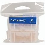 "Large Long 2.5""X1.25""X1"" - Dot Box Refill Boxes 2/Pkg"