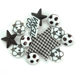 Soccer - Dress It Up Embellishments