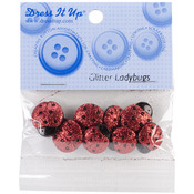 Glitter Ladybugs - Dress It Up Embellishments