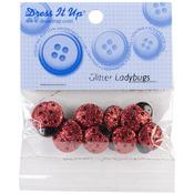 Glitter Ladybugs - Dress It Up Embellishments