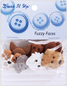 Fuzzy Faces - Dress It Up Embellishments