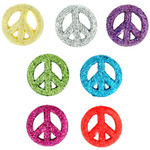 Glitter Peace Signs - Dress It Up Embellishments