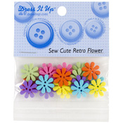 Sew Cute Retro Flowers - Dress It Up Embellishments