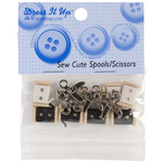 Sew Cute Spools & Scissors - Dress It Up Embellishments