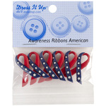 Awareness Ribbon - American - Dress It Up Embellishments