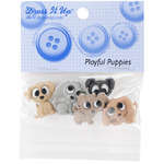 Dress It Up Embellishments - Playful Puppies