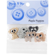 Dress It Up Embellishments - Playful Puppies