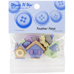 Dress It Up Embellishments - Feather Nest