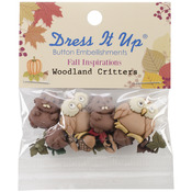 Woodland Critters - Dress It Up Embellishments