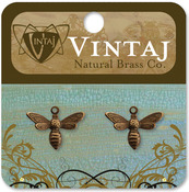 Busy Bee 13mmX17mm - Vintaj Metal Accents 2/Pkg