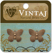Butterfly 19mmX15mm - Vintaj Metal Accents 2/Pkg