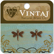 Princess Dragonfly 12mmX13mm - Vintaj Metal Accents 2/Pkg