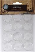 "Round - Vintage Collection Epoxy Dots 1"" 12/Pkg"