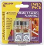 Cinnamon Oil - Candy & Baking Flavoring .125oz Bottle 2/Pkg