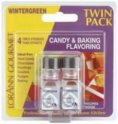Wintergreen - Candy & Baking Flavoring .125oz Bottle 2/Pkg