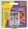 Peppermint Oil - Candy & Baking Flavoring .125oz Bottle 2/Pkg