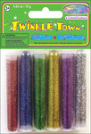 Assorted Colors - Twinkle Town Glitter Tubes 3 Grams 6/Pkg