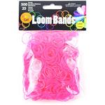 Rose Red Gel - Gel Loom Bands Value Pack 500 Bands & 25 Clips/Pkg