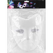 "White - Paper Mask-It Form Full Face 7.5""X8.25"" 1/Pkg"