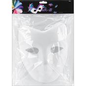 """White - Paper Mask-It Form Full Face 7.5""""X8.25"""" 1/Pkg"""