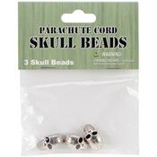 Skull - Parachute Cord Beads 3/Pkg