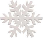 """White - Smooth Foam Snowflake 12"""""""