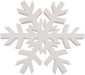 White - Smooth Foam Snowflake 12""