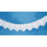White - Tissue Paper Garland 9'