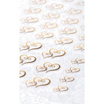 Gold Double Heart - Clear Stickers 53/Pkg