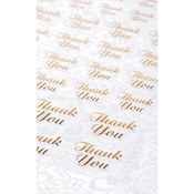 Gold Thank You - Clear Stickers 47/Pkg
