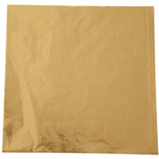 """Gold - Foil Candy Wrappers 4""""X4"""" 50/Pkg"""