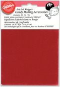"""Red - Foil Candy Wrappers 4""""X4"""" 50/Pkg"""