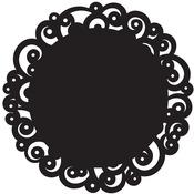 "Black Swirl - Doilies 12"" Round 6/Pkg"""