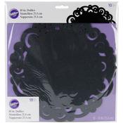 "Black Swirl - Doilies 10"" Round 10/Pkg"""