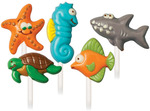 Sea Creatures 5 Cavity (5 Designs) - Lollipop Mold